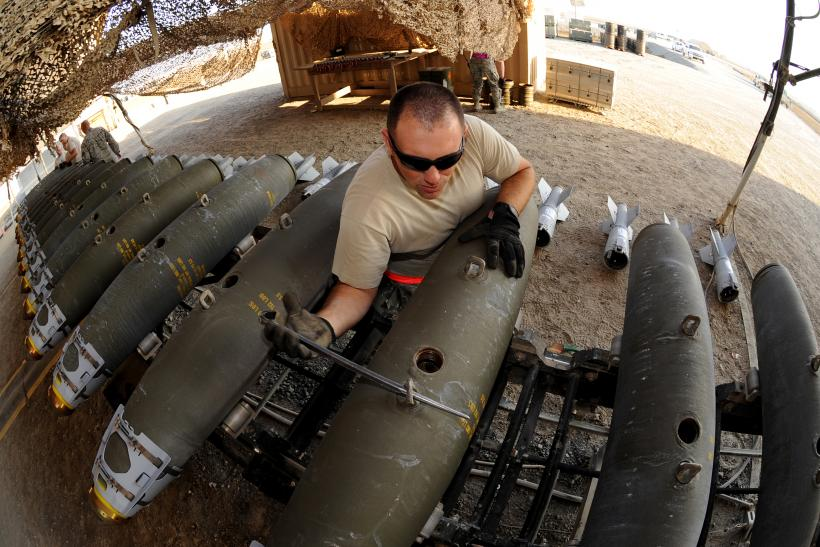 A U.S. Soldier Prepares A Bomb For Deployment Against The Islamic State