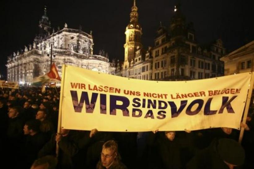 Anti-immigration protest in Germany