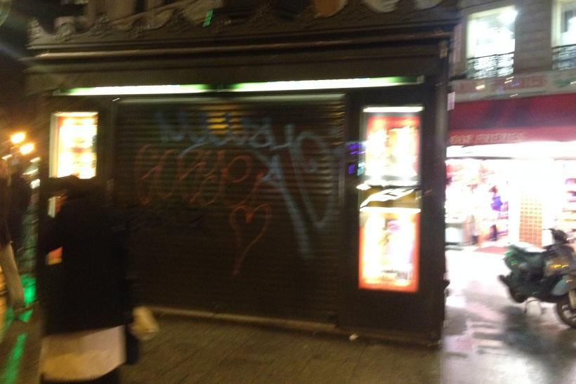 Closed newsstand in Paris after Charlie Hebdo attack