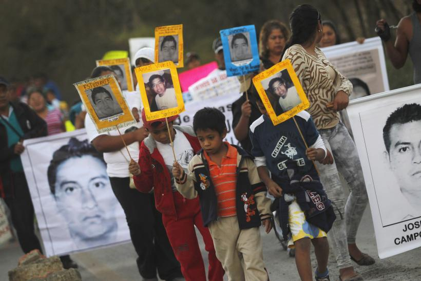 Protests for the missing students in Mexico