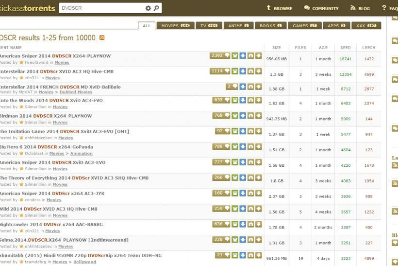 KickAss Torrents DVD Screeners