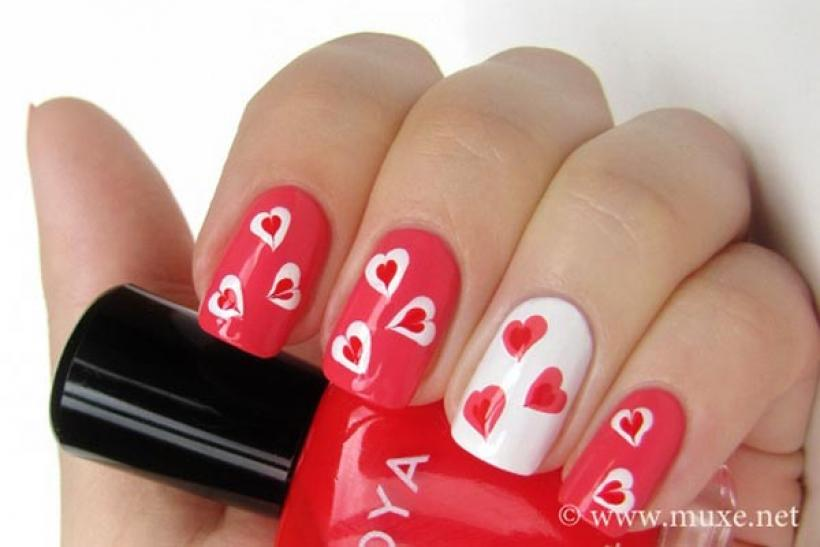 how to get perfect valentines day nails art designs polish color trends safety tips when and where to go and easy diy ideas - Valentines Nail
