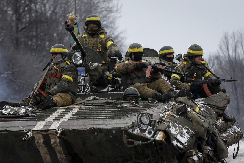 Ukrainian troops have withdrawn heavy weapon from the front lines