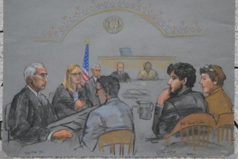 boston marathon trial sketch
