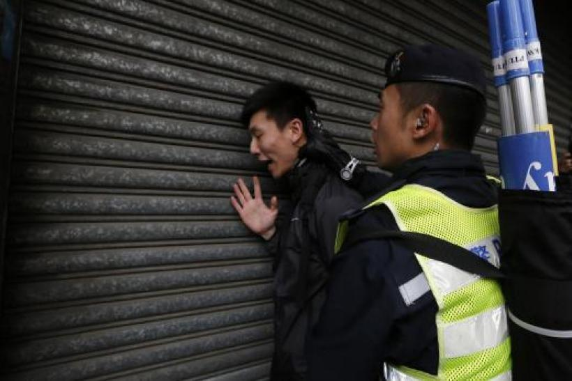 Police arrested three in Hong Kong