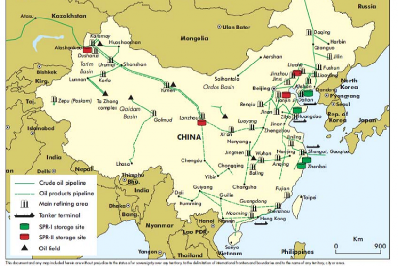 Oil Prices Down As China Asian Refineries Slow Crude Purchases Key - Map-of-us-oil-refineries