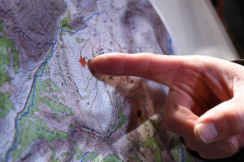 Germanwings crash site on map
