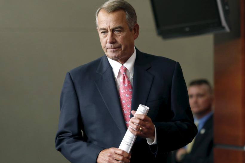 John Boehner Sunday talk shows