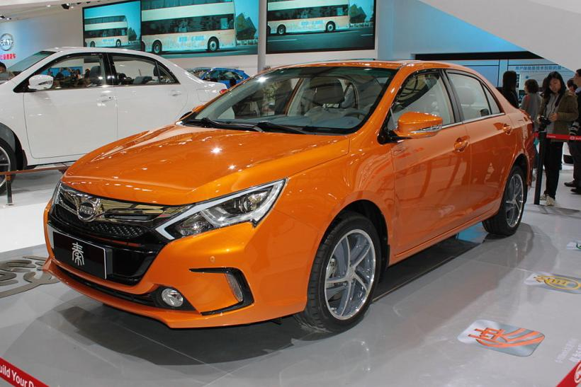 The Byd Qin On Display At Auto Shanghai 2017 Like Chevrolet Volt Can Travel Short Distances Electric Before Switching To Gasoline