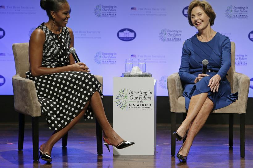 Michelle Obama Laura Bush