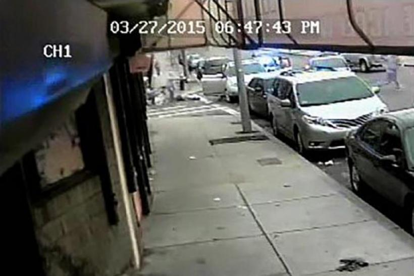 Boston cop shooting video image