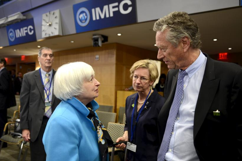 Janet L. Yellen and Olivier Blanchard, April 18, 2015