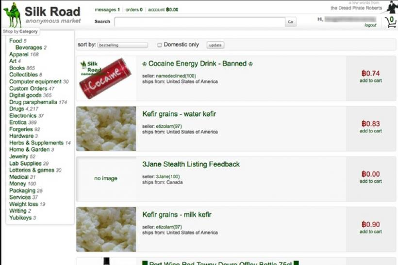 Silk Road front page