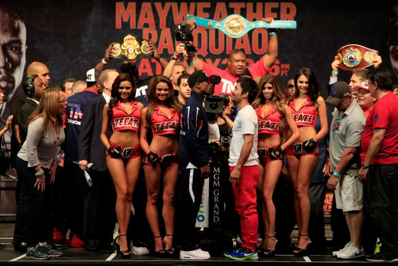 Mayweather Pacquiao faceoff