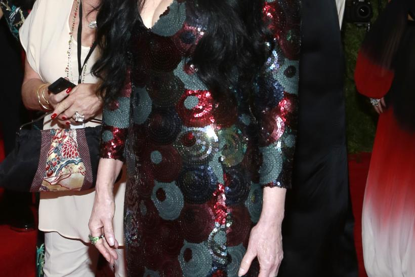 """[10:27] U.S. singer Cher arrives for the Metropolitan Museum of Art Costume Institute Gala 2015 celebrating the opening of """"China: Through the Looking Glass,"""""""