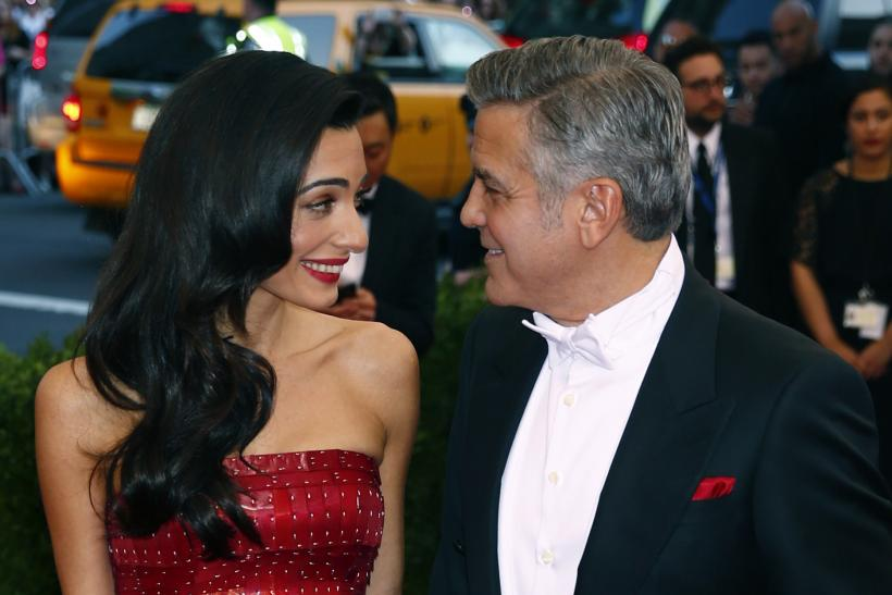[13:54] George Clooney and wife Amal Clooney arrive at the Metropolitan Museum of Art Costume Institute Gala 2015
