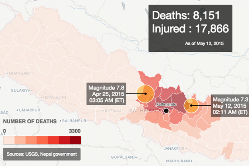 Nepal Earthquake Map.Where Did The Earthquake In Nepal Hit Death Toll Climbs After