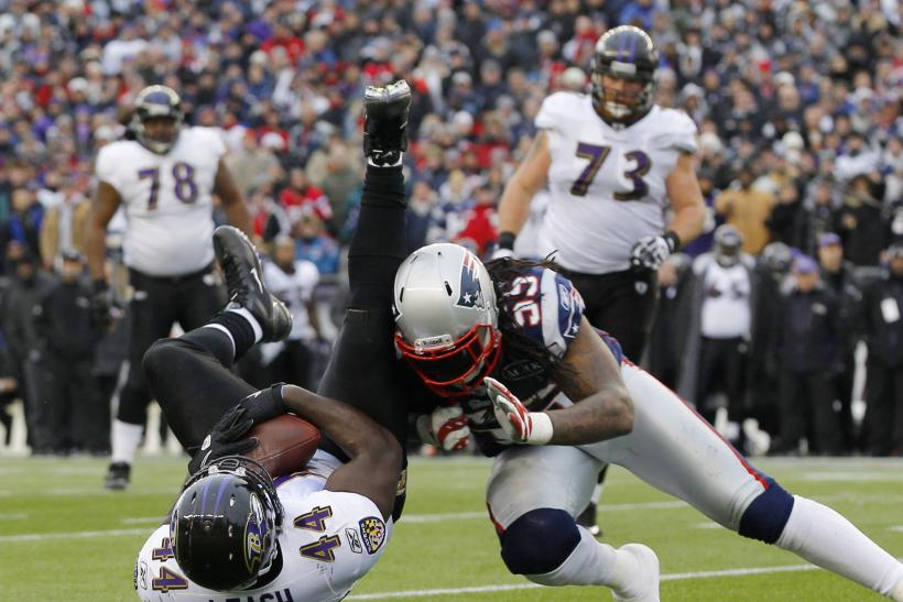 New England Patriots outside linebacker Brandon Spikes