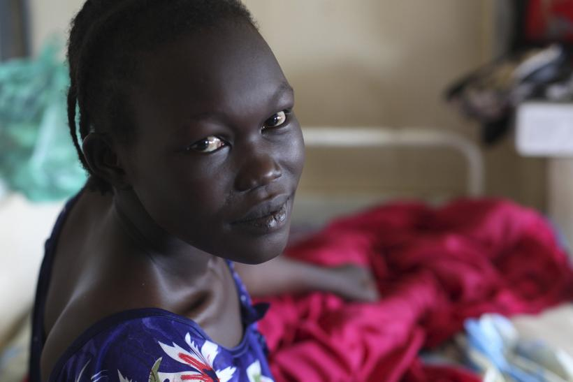 South Sudan girl with fistula