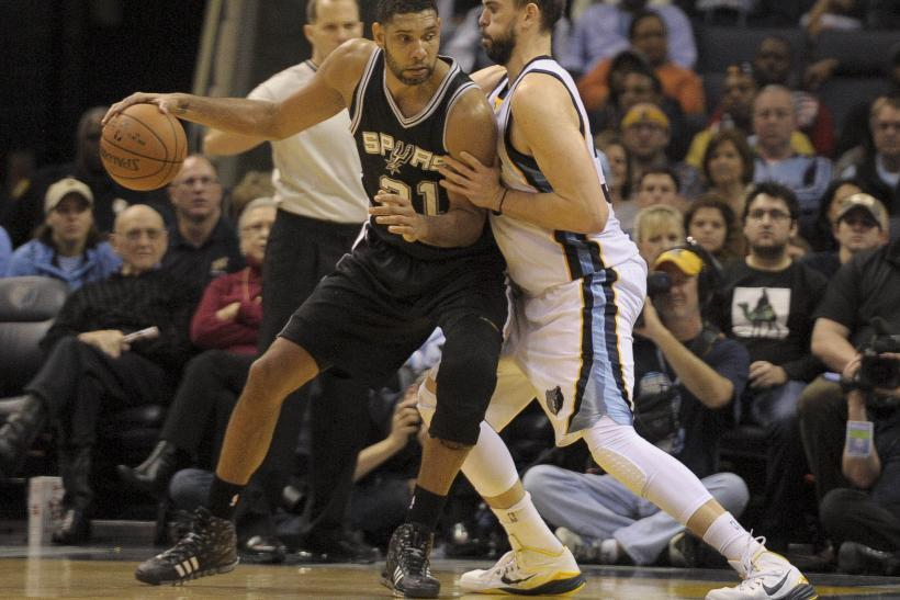 Duncan vs. Gasol in 2014