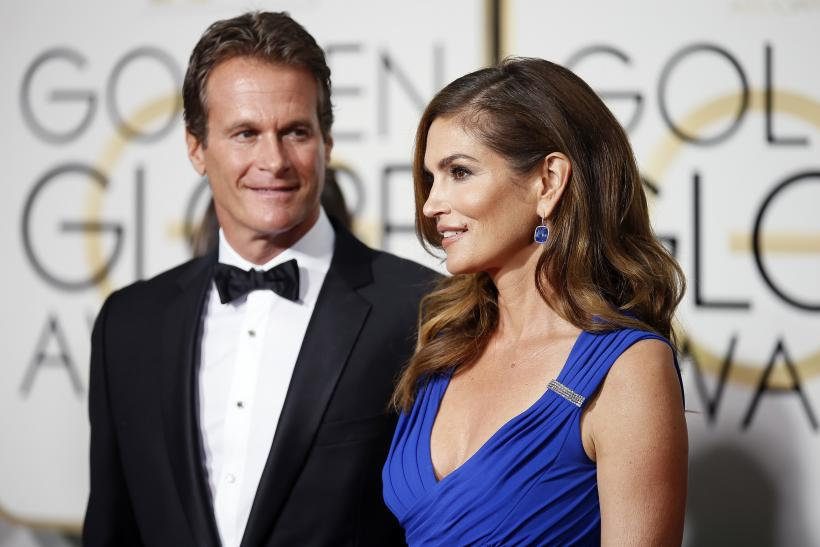[8:18] Rande Gerber and Cindy Crawford arrive at the 72nd Golden Globe Awards in Beverly Hills, California