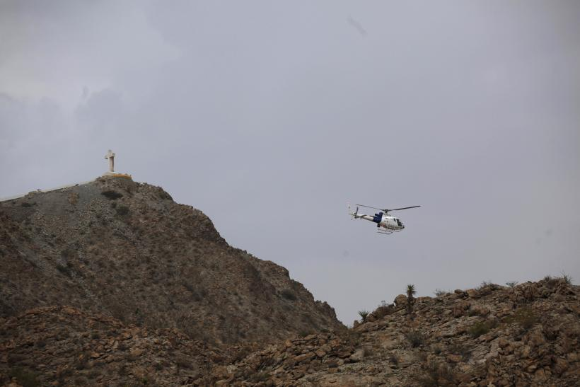 A U.S. Border Patrol helicopter