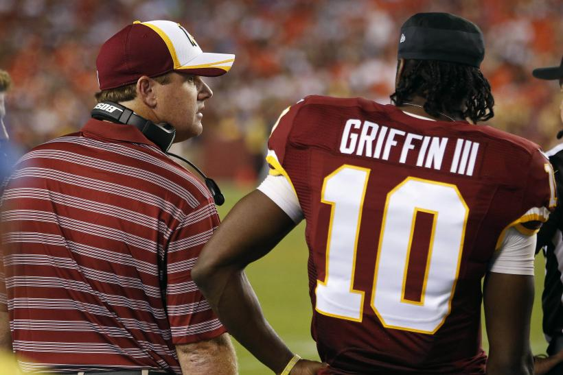 Gruden and Griffin in 2014