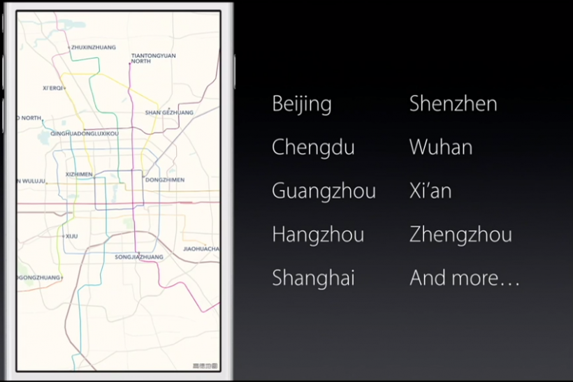 Apple China Transit Maps