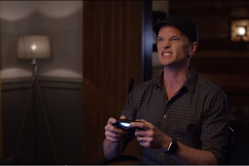 NPH playing Arkham Knight screengrab