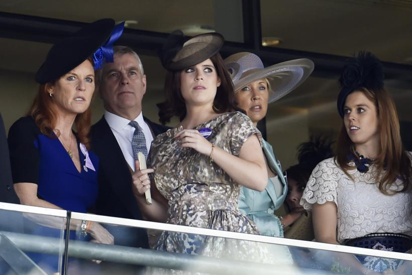 [11:14] Princess Beatrice of York, Princess Eugenie of York, Sarah Ferguson, Duchess of York and Prince Andrew, Duke of York at Royal Ascot