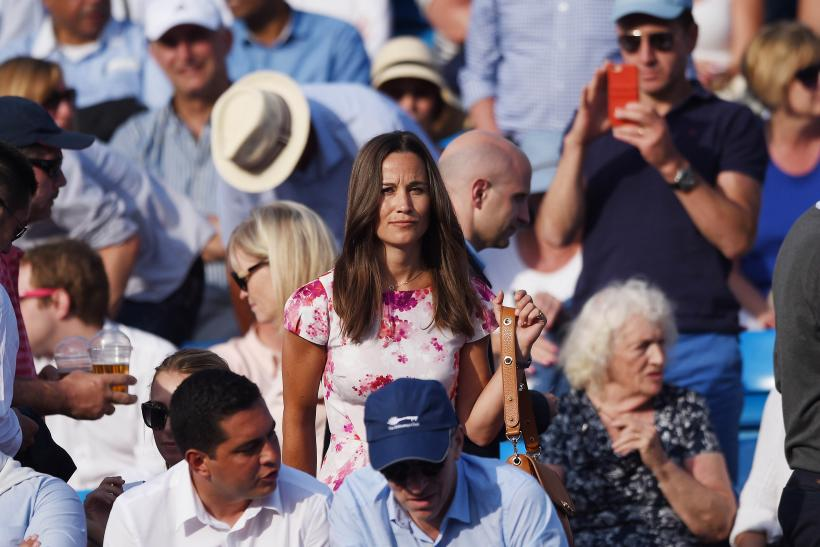 [12:07] Pippa Middleton watches from the stands at the Aegon Tennis Championships