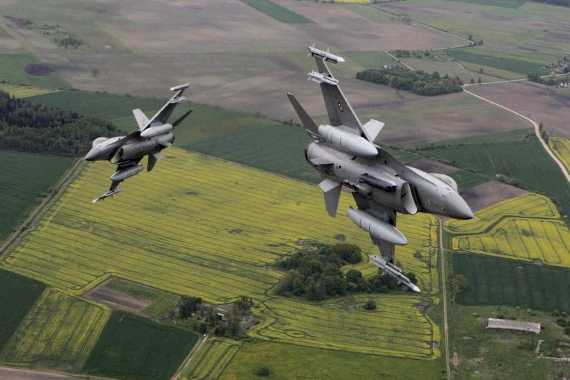 Norwegian F-16 and Italian Eurofighter