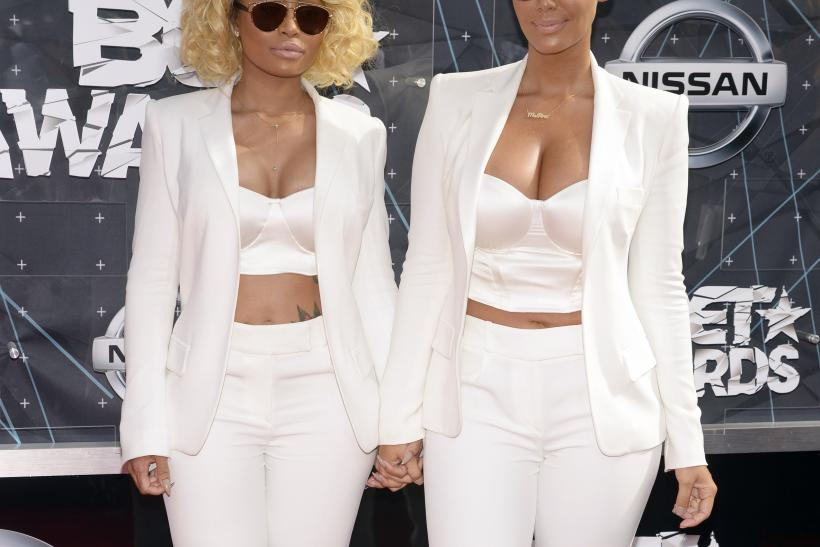 [7:54] Black China (L) and Amber Rose arrive at the 2015 BET Awards in Los Angeles