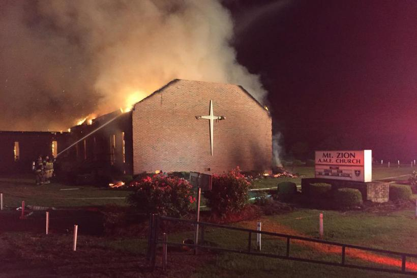 Mt. Zion AME Fire