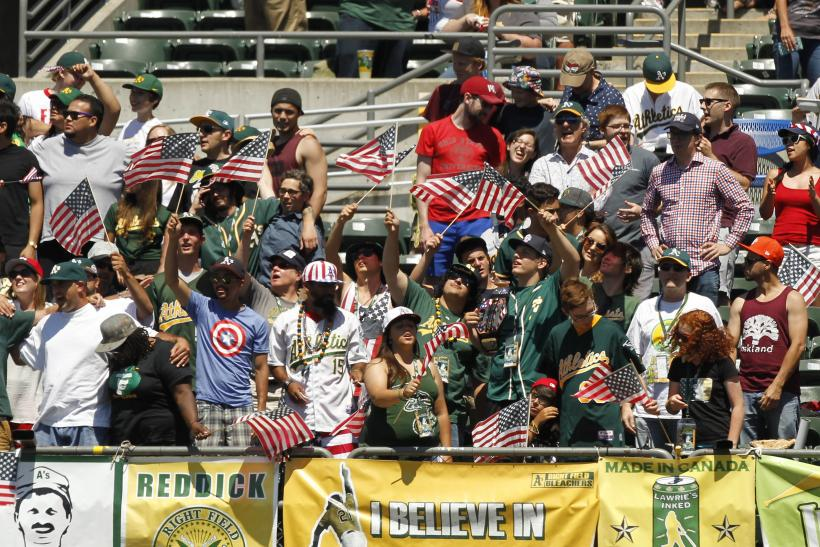 Athletics fans