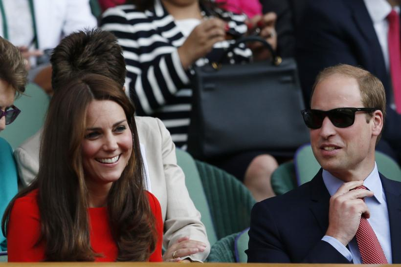 [11:23] Britain's Catherine Duchess of Cambridge and Prince William (R) on Centre Court at the Wimbledon Tennis Championships in London