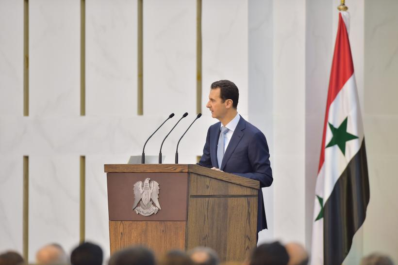 Bashar Assad speech in Damascus
