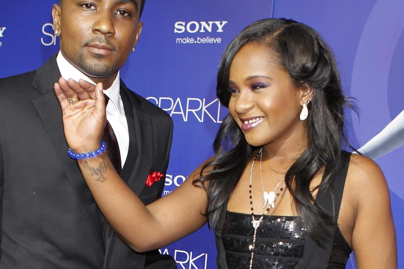 Bobbi Kristina, Nick Gordon at Sparkle premiere