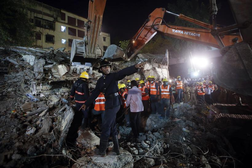 Building collapse in India