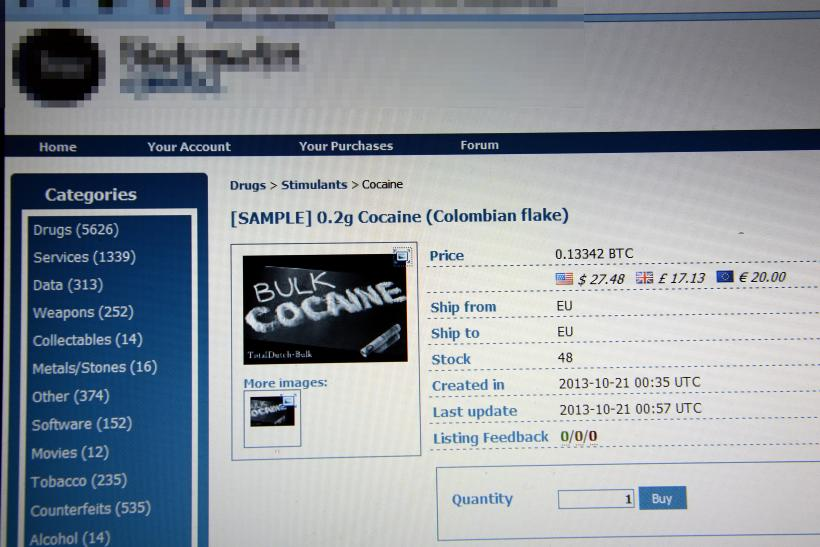 Cocaine sold online