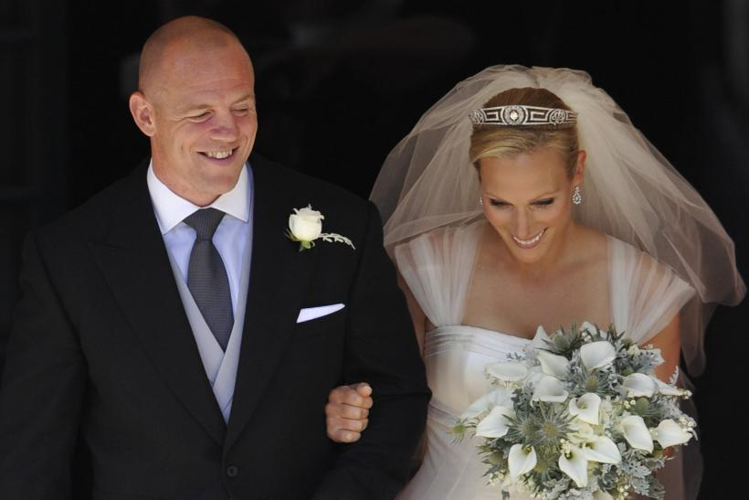 [9:43] Britain's Zara Phillips, the eldest granddaughter of Queen Elizabeth, and her husband Mike Tindall