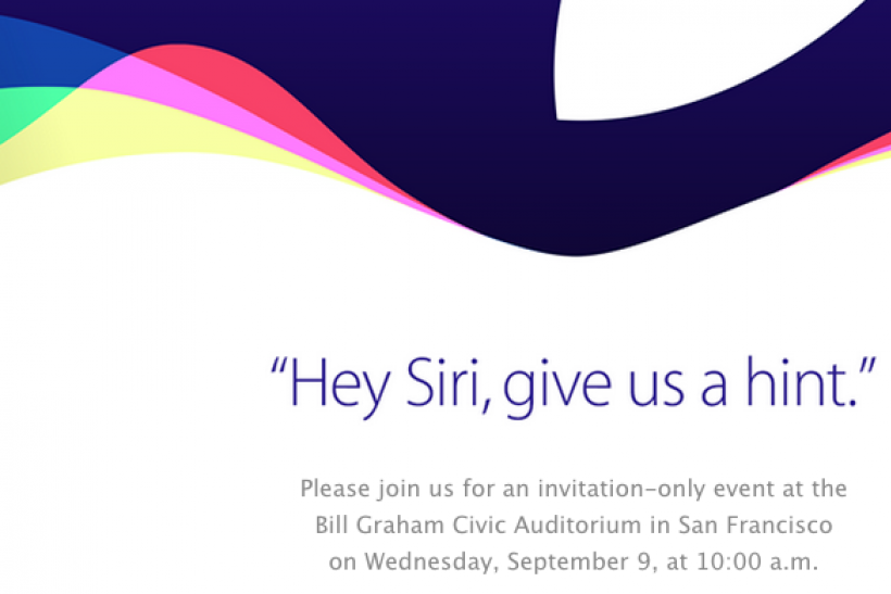 Apple Inc. media invite iPhone 6S