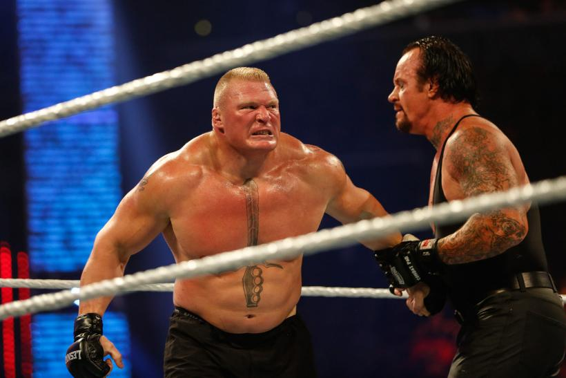 The Undertaker Brock Lesnar