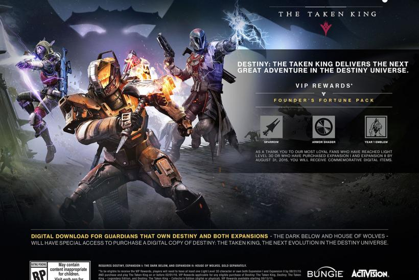Destiny' 2 0 Update, The Taken King Bring Notable Changes