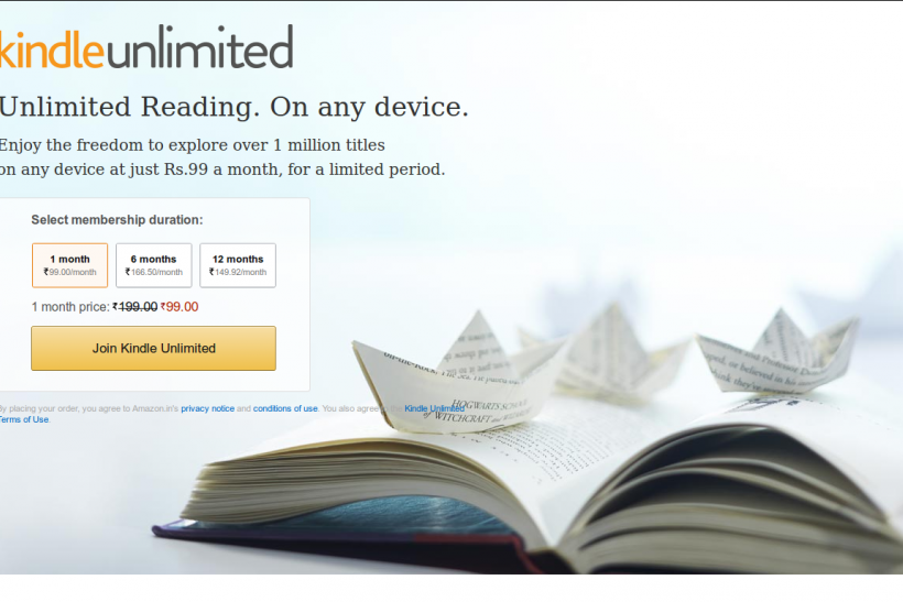 Amazon Kindle Unlimited, Read-All-You-Can Service, Launched