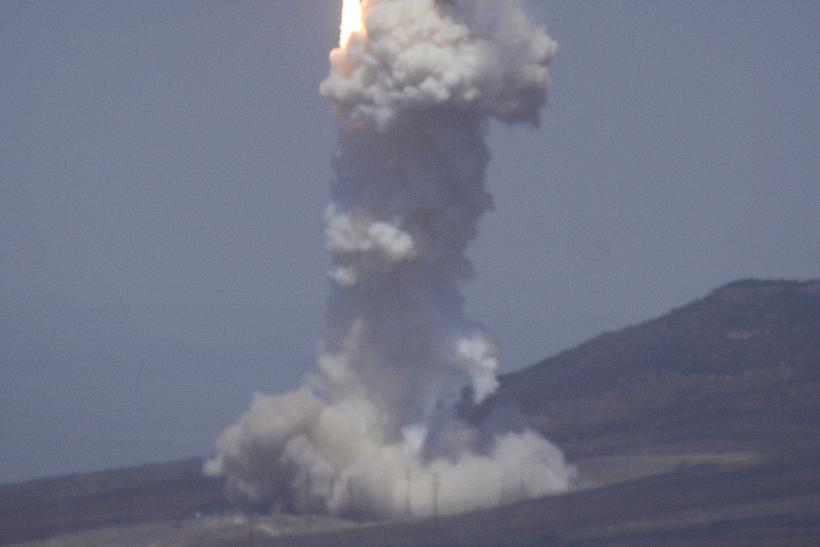 A ballistic missile launches at Vandenberg Air Force Base