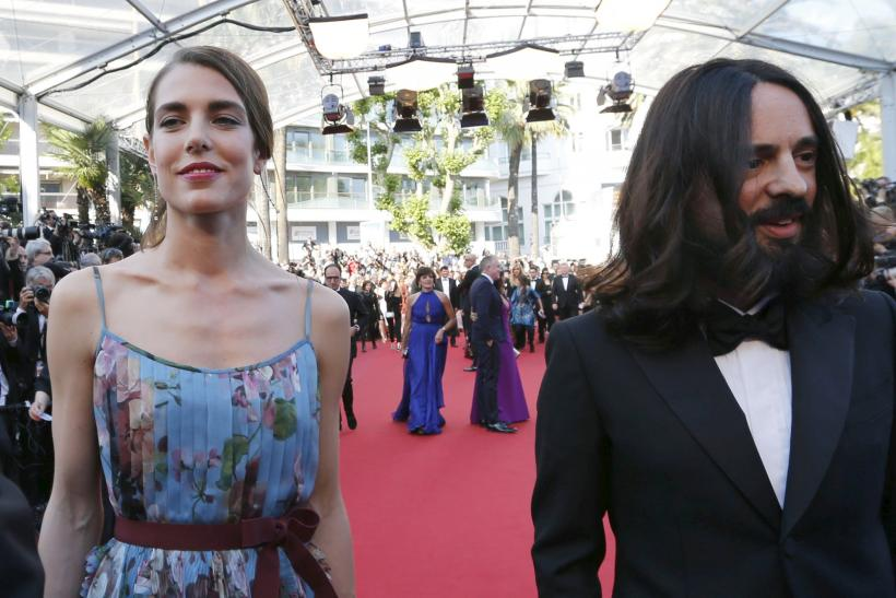 [11:15] Charlotte Casiraghi (L) and Alessandro Michele, Gucci Creative Director