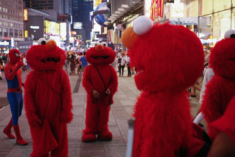 Elmos in Times Square, New York