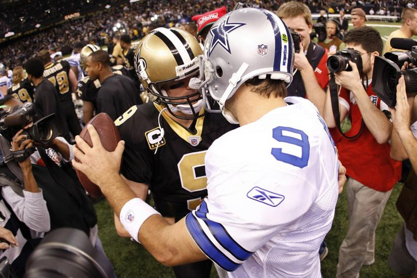 Tony Romo Drew Brees