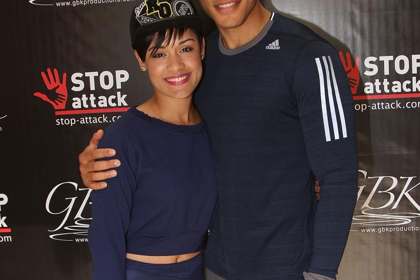 Grace Gealey (left) and Trai Byers (right), pictured here at the GBK ...